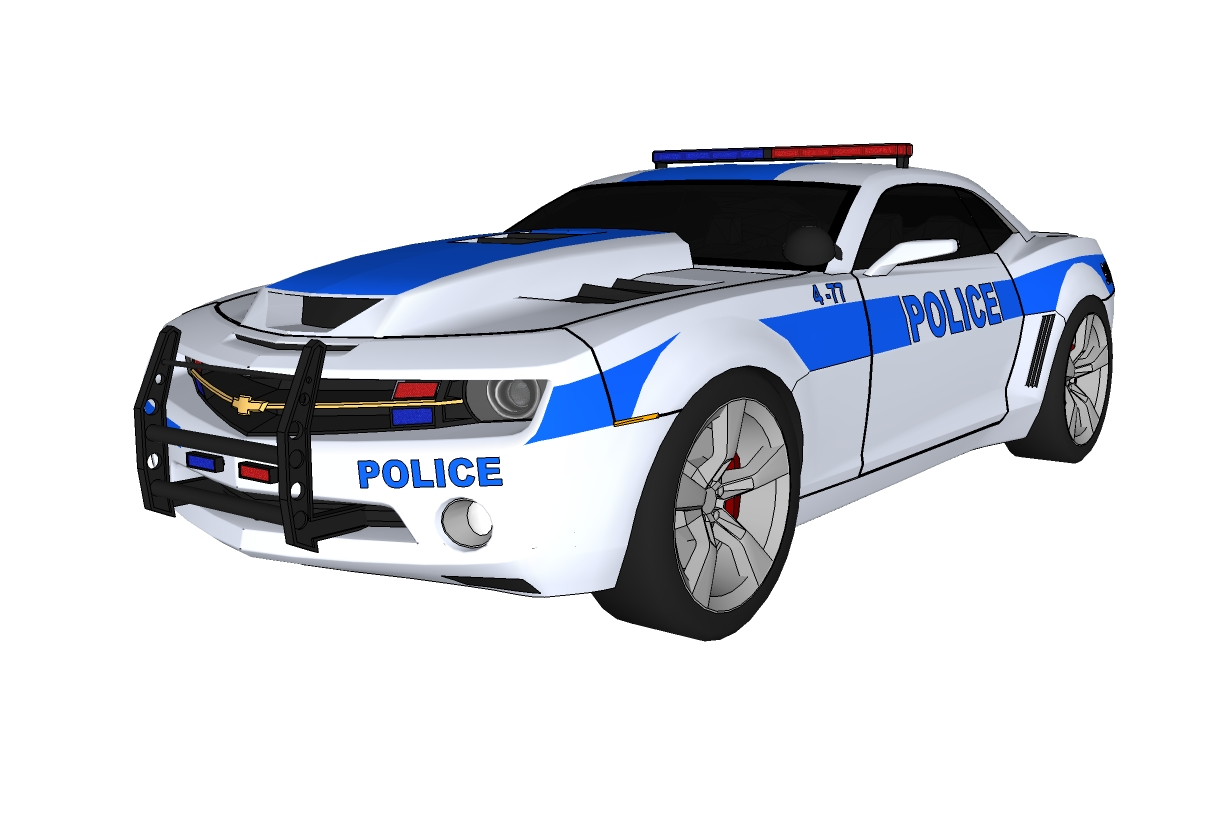 3d Model Police Car Beautiful Tune Sporty Style Brand Chevrolet