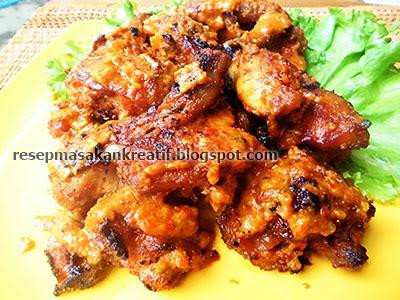 resep ayam bakar bumbu rujak pedas meresap   aneka resep