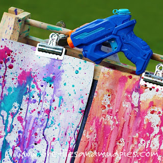 colorare con pistola ad acqua