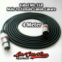 kabel mic XLR 4 meter male to Female Jack Canon Canare