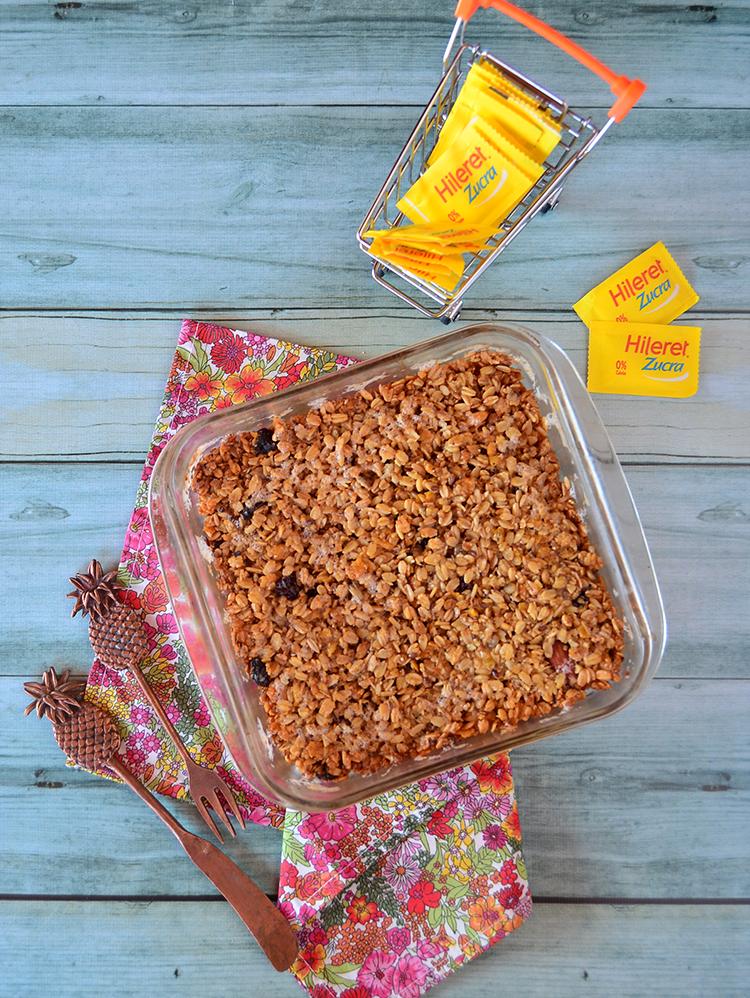 Barras de cereal sin azúcar