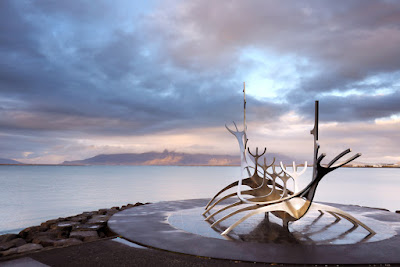 The Sun Voyager Statue in Reykjavik is a point of interest
