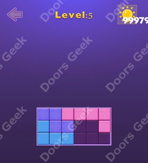 Cheats, Solutions, Walkthrough for Move Blocks Easy Level 5