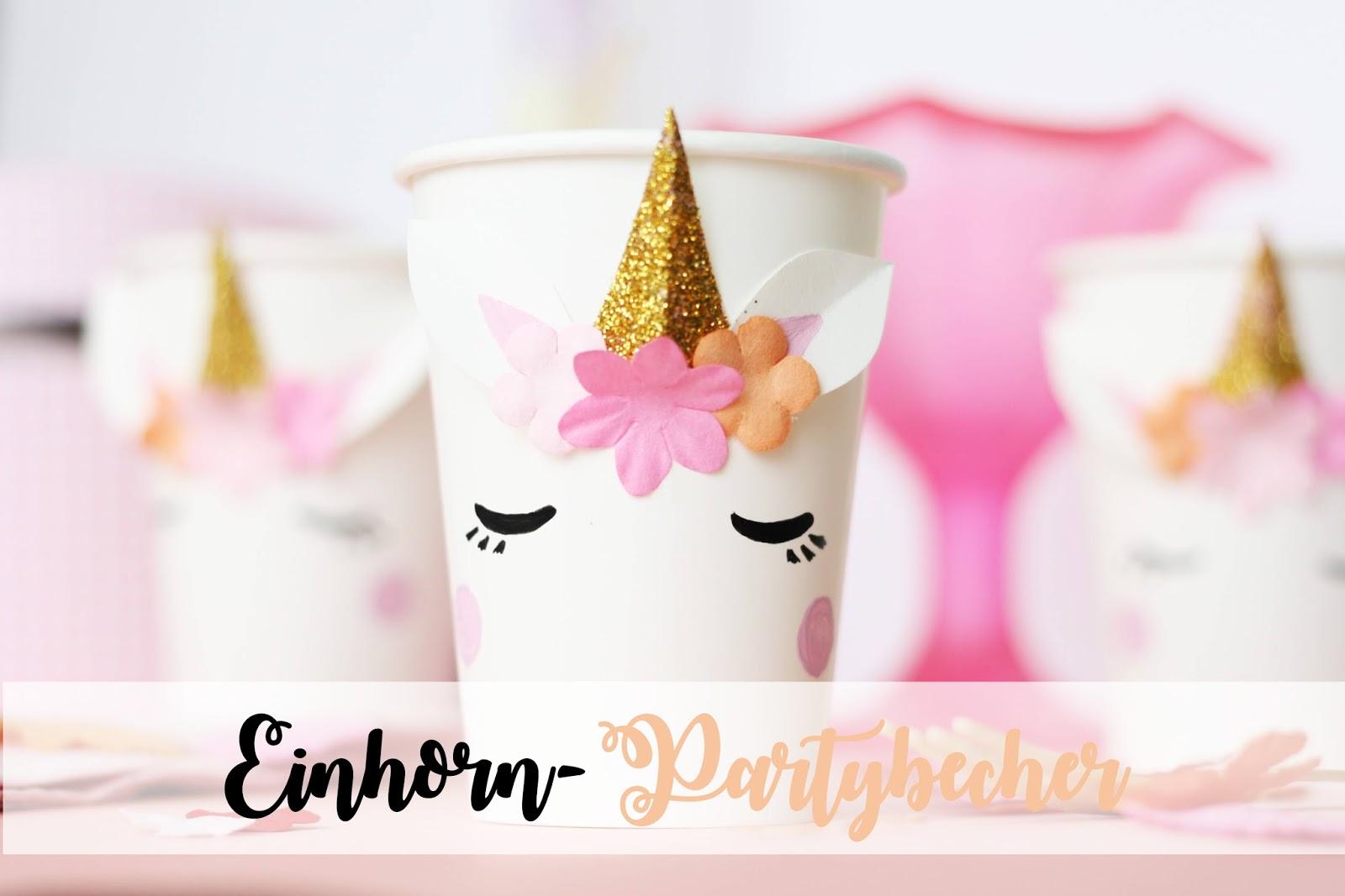 Some joys diy blog ber diy geschenke und bilder mit spr chen - Einhorn party deko ...