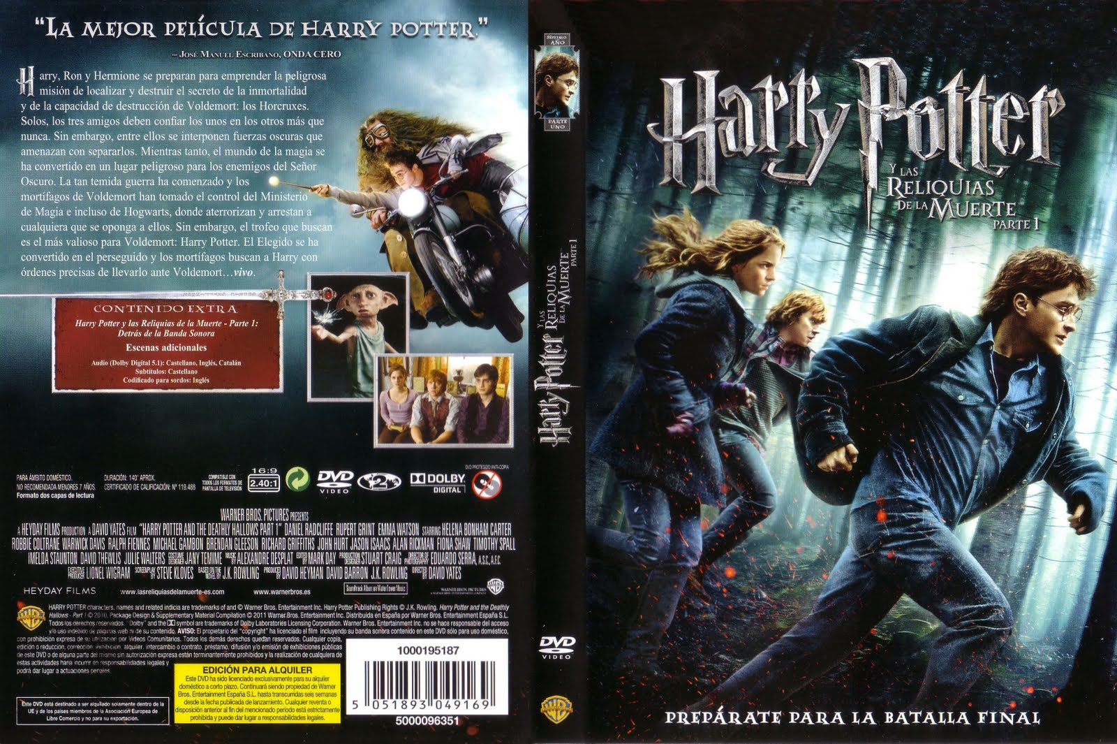 Harry Potter Libro 1 Harry Potter Las Reliquias De La Muerte I Latino Identi