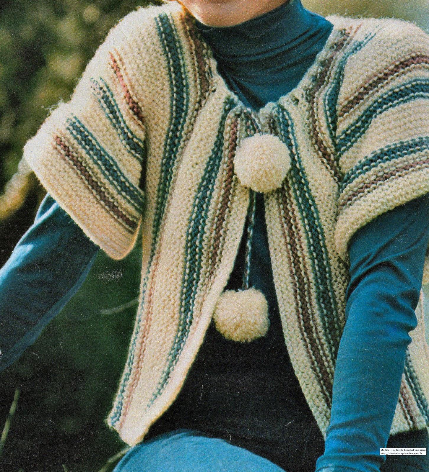 Tricoter un gilet femme point mousse