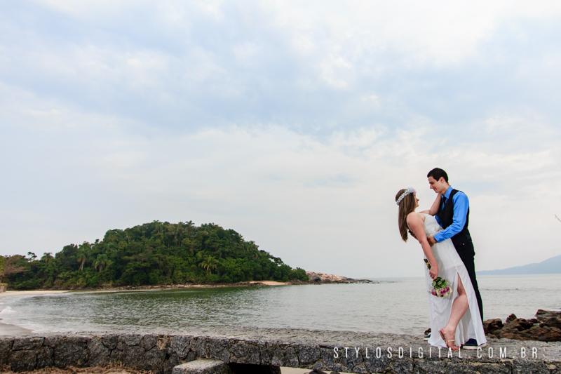 ensaio casal em praia