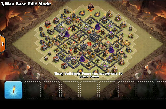 Base Th9 War 2017 With Bomb Tower Anti Everything Anti Valkyrie Anti 2 Star Anti 3 Star