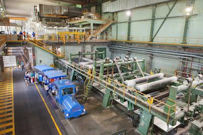 Visita en tren a la fábrica Kimberly Clark por el 40 aniversario