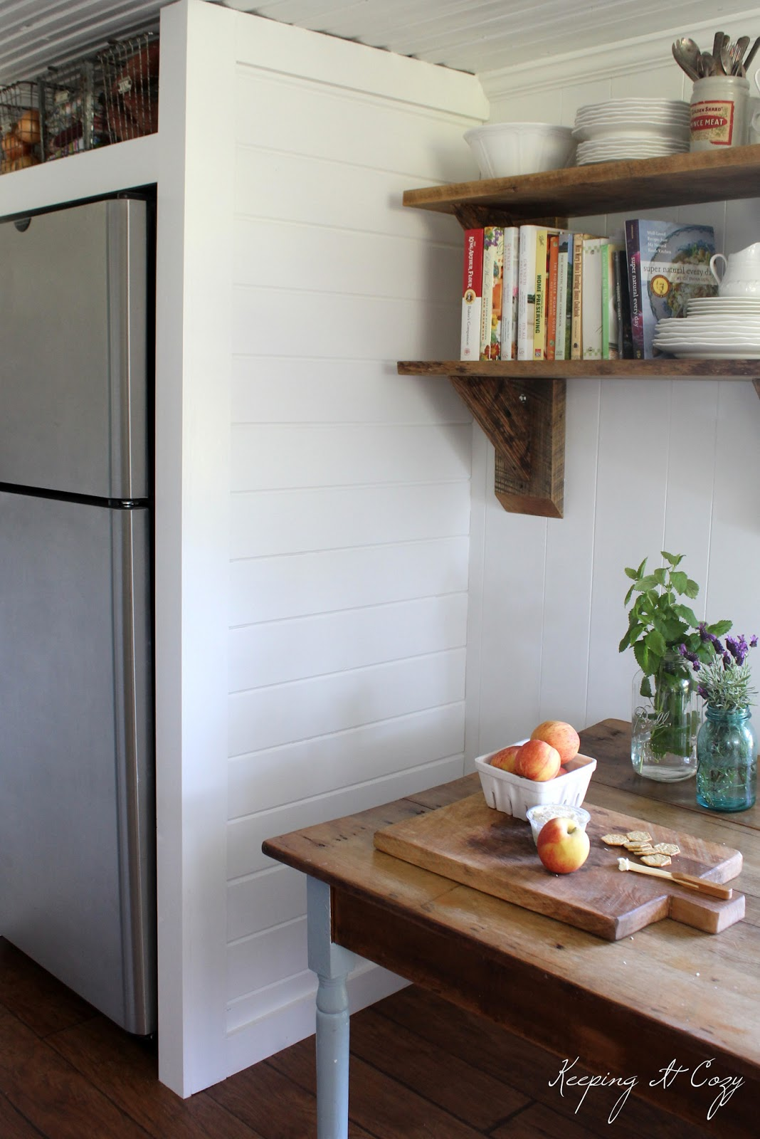 Keeping It Cozy Kitchen Update Building a Refrigerator Cabinet