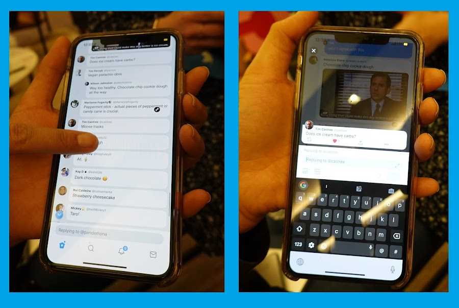 Twitter's upcoming conversation interface looks like a colorful mess