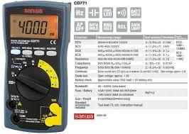 Jual Multimeter Sanwa Cd771 Harga Murah