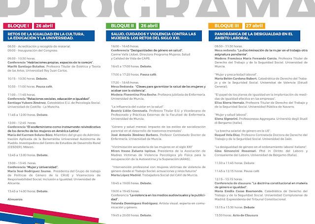 """I Congreso Internacional """"Retos de la Igualdad entre Mujeres y Hombres en el Horizonte 2020"""""""
