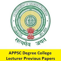 APPSC Degree College Lecturer Previous Papers