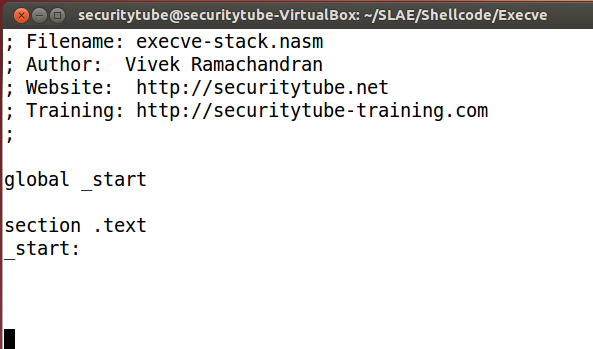 SecurityTube net Hack of the Day: Demystifying the Execve