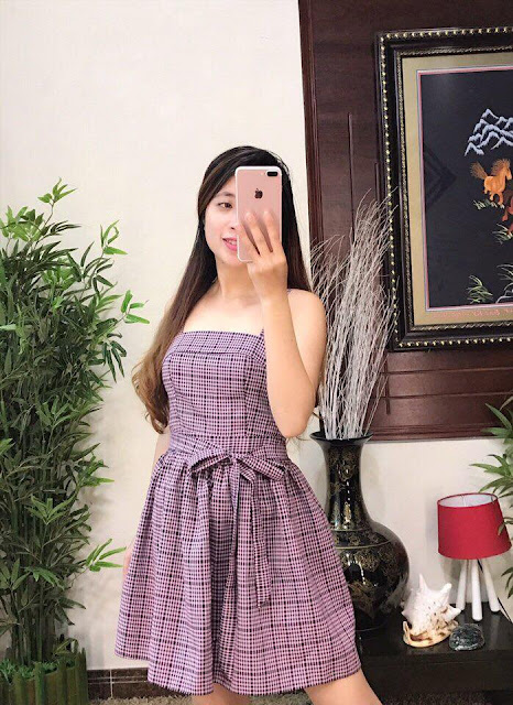 Đầm dây kaki sọc rất đẹp giá sỉ ở Sài Gòn