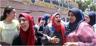 شاهد بالصور بكاء وصراخ وانهيار طلاب الثانويه العامه بعد إمتحان الفيزياء اليوم 11/6/2017 الأحد
