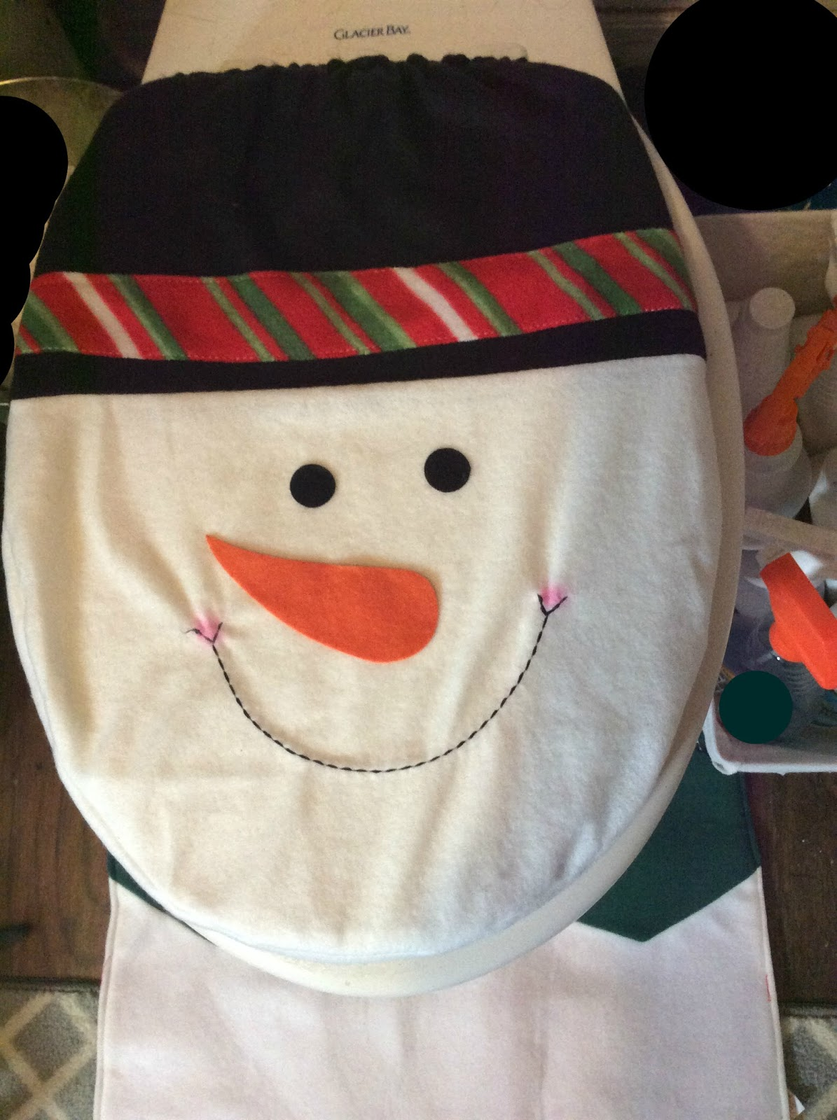 Nesca S Nook Ohuhu Snowman Toilet Seat Cover And Rug Set