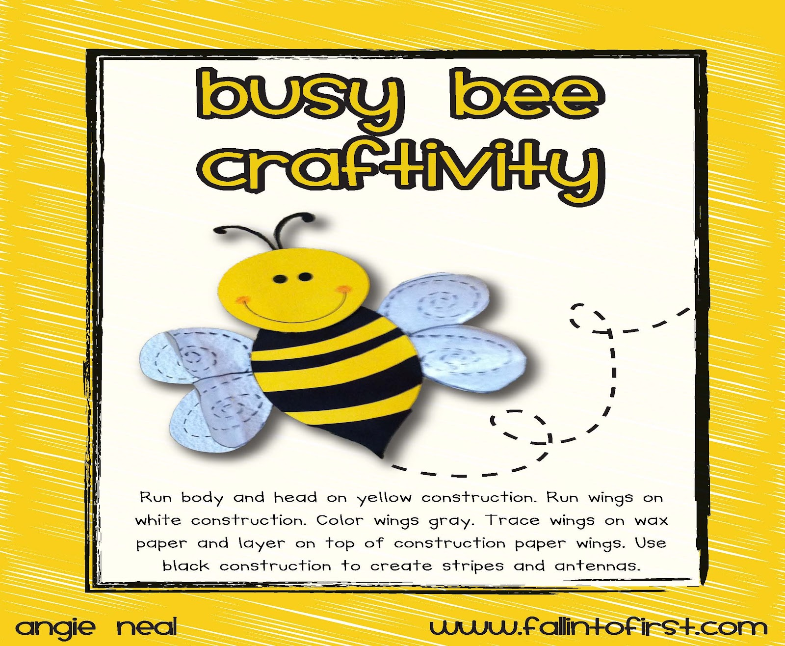 Fall Into First Busy Buzzy Bee
