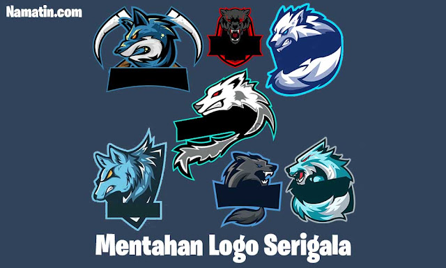 mentahan logo serigala