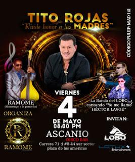Concierto de Tito Rojas en homenaje A Las Madres en Bogotá