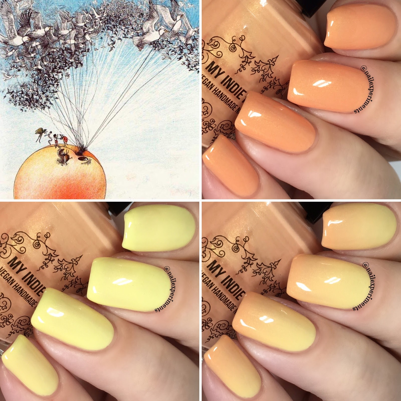 Nail Experiments: My Indie Polish Jame\'s and The Giant Peach | March ...