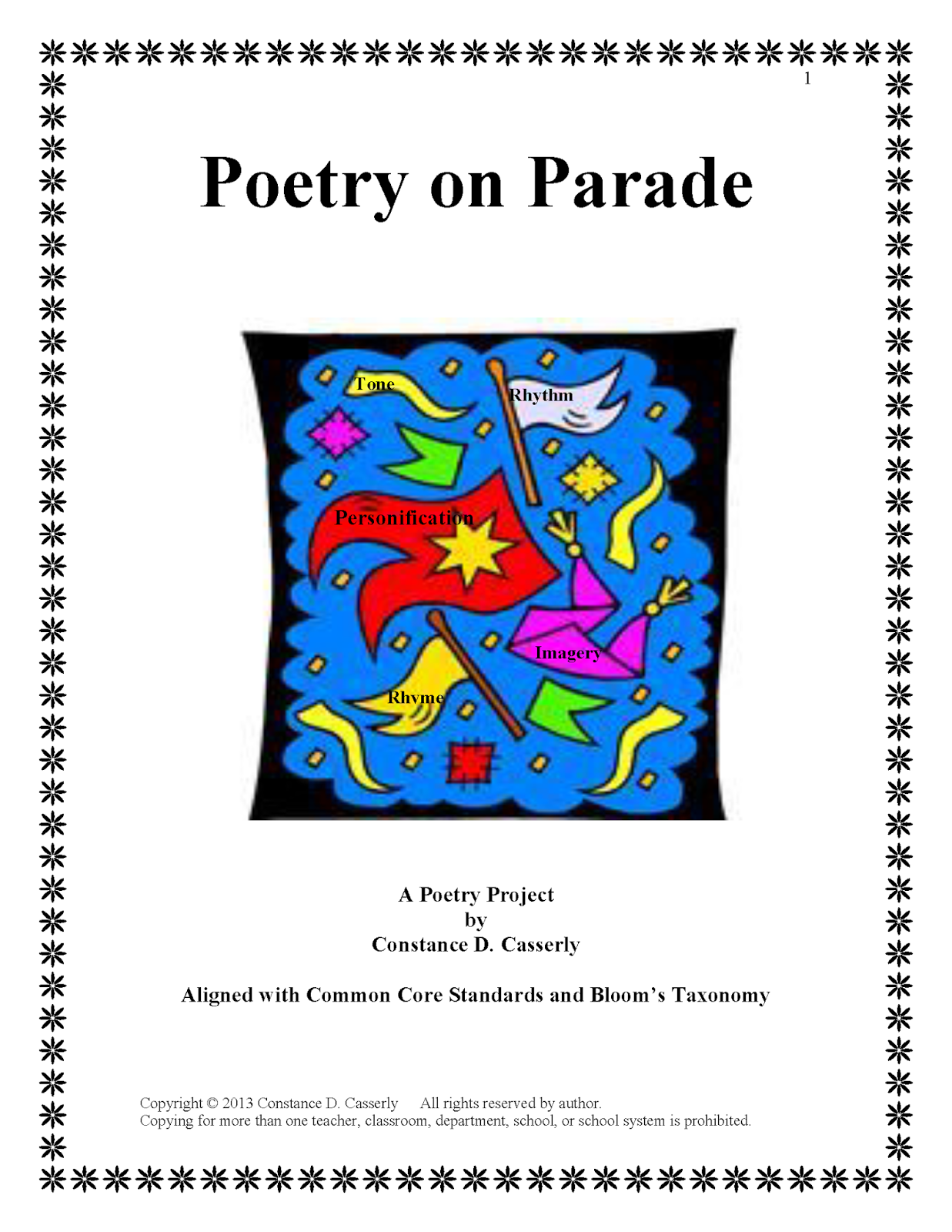 Poetry Analysis Activity: Poetry on Parade