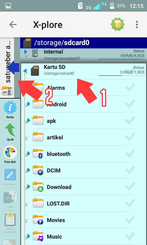 foto cara extract file zip di android tanpa root