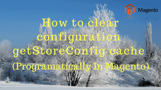 How to clearinvalidates configuration  config  getStoreConfig cache programatically in Magento