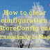 How to clear/invalidates configuration | config | getStoreConfig cache programatically in Magento