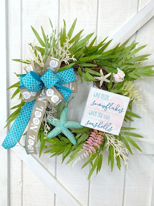 Coastal Beachy Christmas Wreath