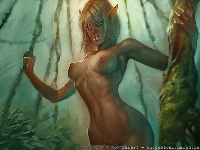 Эльфийка Крови заблудилась в лесу