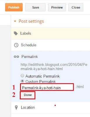 Blog Post Permalink Ka Use Or Puri Details Hindi Me
