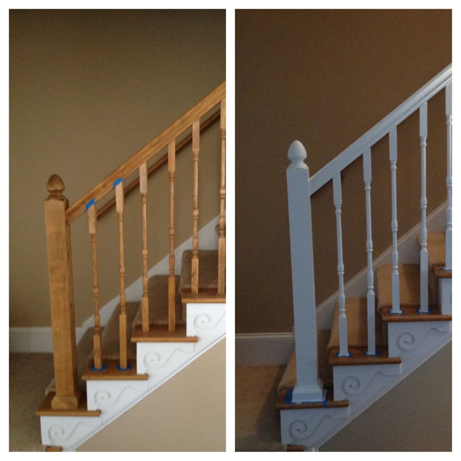 {mis}adventures Of The Cranes: Banister Makeover