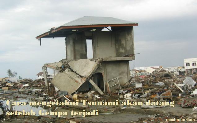 Cara mengetahui Tsunami akan datang setelah Gempa terjadi