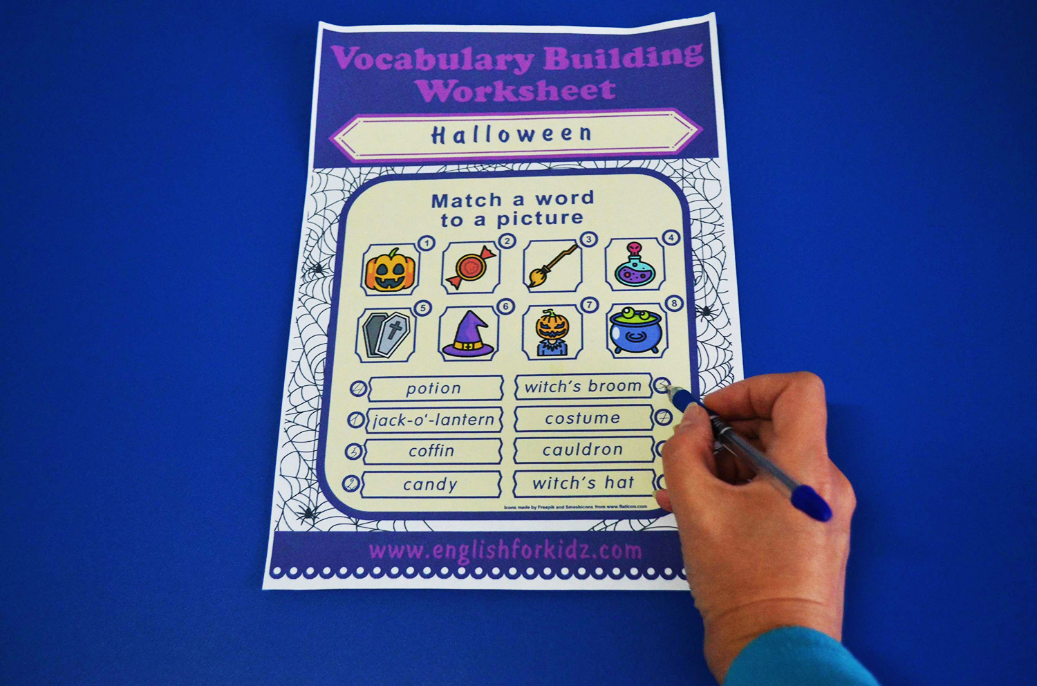 English For Kids Step By Step Halloween Worksheets Word