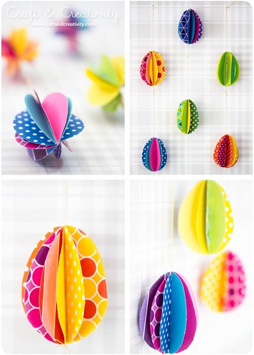 decorazioni e lavoretti di pasqua fai da te | creare con la carta ♥ - Uova Di Pasqua Fai Da Te Carta