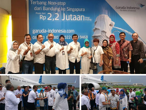 Garuda rute Bandung-Singapura