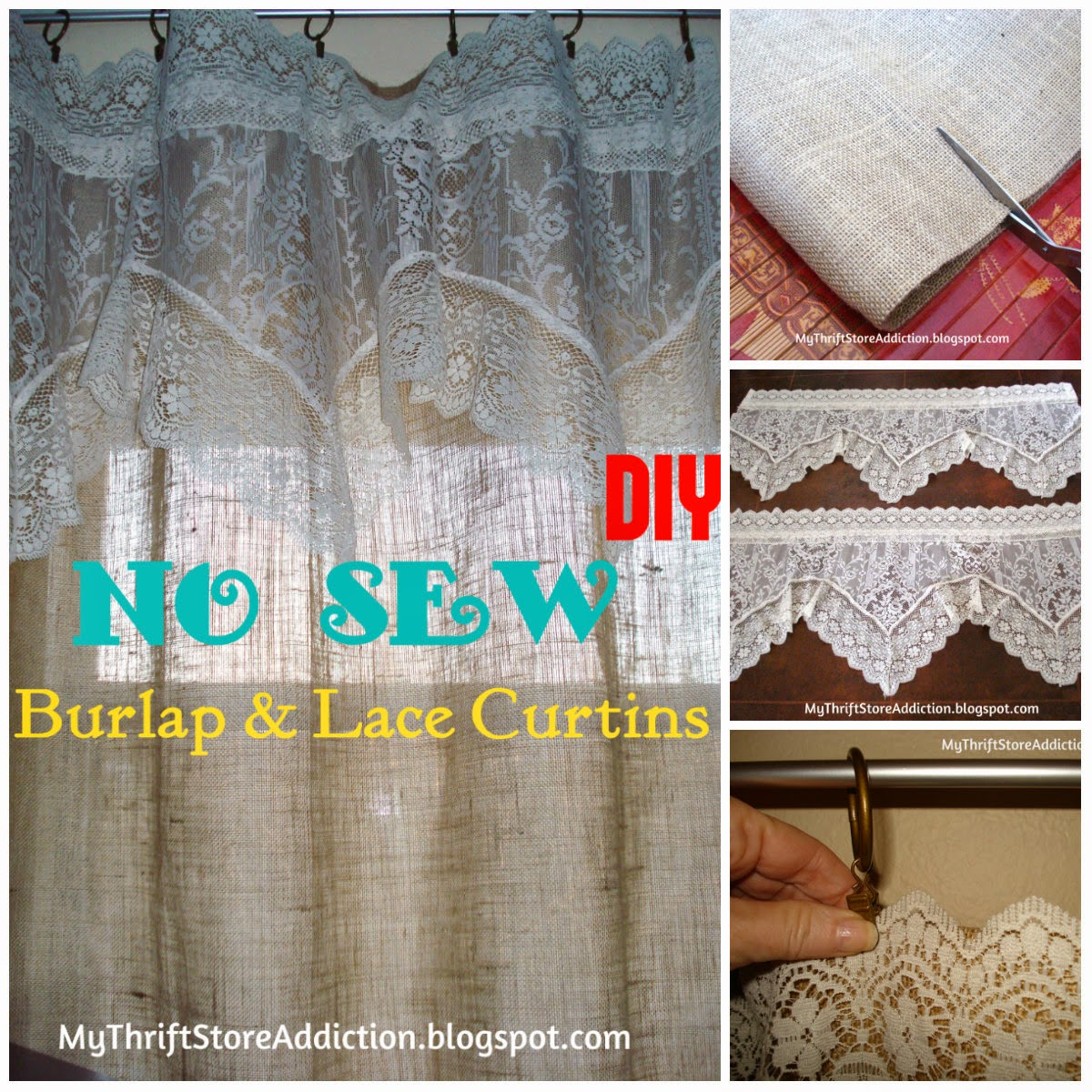 Burlap kitchen curtains no sew - Did You Know You Can Get Coupons From Hobby Lobby S Website I Get Them And Store Them In My Phone I Purchased 6 Yards Of Natural Colored Burlap