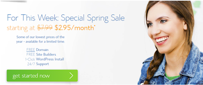 Blue Host Web Hosting Special Spring Sale
