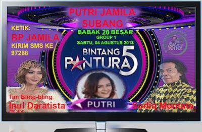 PUTRI JAMILA Subang Bintang Pantura 5 Indosiar babak 20 Besar, Group 1