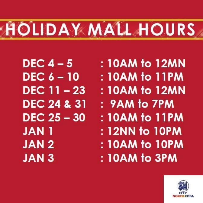 december 13 to 17 10 am to 11 pm december 18 to 23 10 am to 12 am december 24 9 am to 8 pm december 25 10 am to 11 pm - 7 11 Christmas Hours