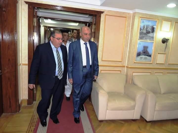 استقبال مدير امن مطروح المهنئين بعيد الاضحى المبارك نأئبا عن المحافظ
