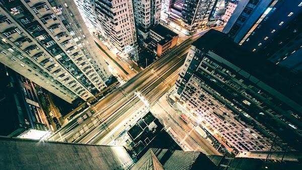 Urban Night in Hong Kong