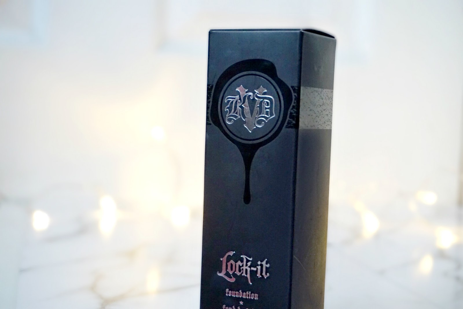 Kat Von D Lock It Foundation Packaging