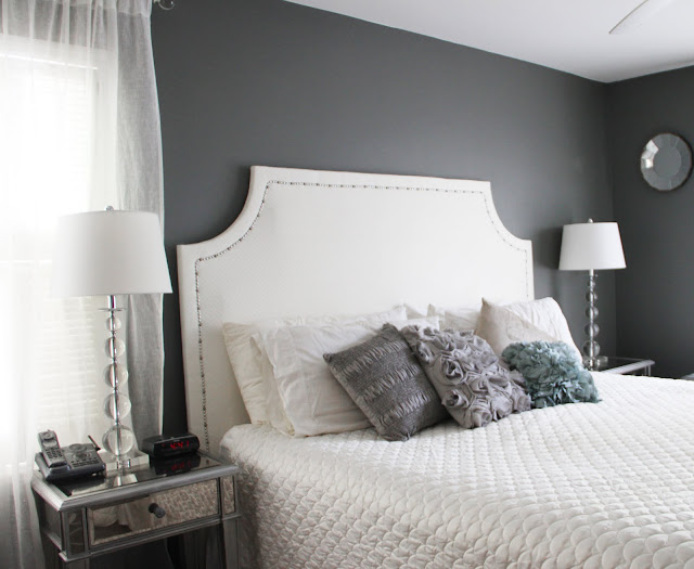 Bedroom Makeover - DIY upholstered headboard