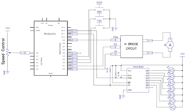 arduino dc motor control circuit