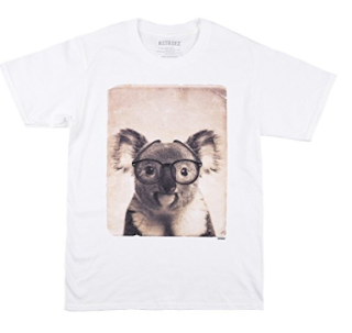 koala with glasses tshirt