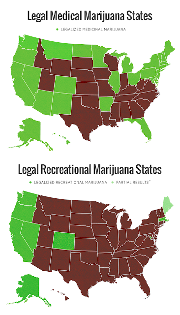 Recreational or Medical Marijuana Now Legal in These States