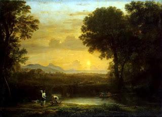 Quadro d'arte Claude Lorrain, Paysage avec Tobias et l'ange